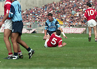 Dublin v Cork, All Ireland Semi Final in Croke Park, 20/08/1995. <br />  (Part of the Independent Newspapers Ireland/NLI Collection).