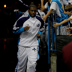 Oct 10, 2009; New Orleans, LA, USA; New Orleans Hornets guard Chris Paul runs onto the court prior to a preseason game against the Oklahoma City Thunder at the New Orleans Arena. The Hornets defeated the Thunder 88-79. Mandatory Credit: Derick E. Hingle-US PRESSWIRE