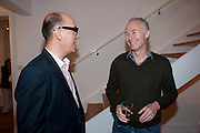 ROBERT DEVCIC; BRUCE ALLAN, Relics of the Mind.- Private view of work by Katharine Dowson. GV Art, 49 Chiltern st. London. W1. 16 September 2010. -DO NOT ARCHIVE-© Copyright Photograph by Dafydd Jones. 248 Clapham Rd. London SW9 0PZ. Tel 0207 820 0771. www.dafjones.com.