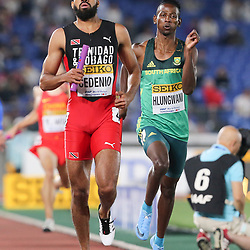 YOKOHAMA, JAPAN - MAY 11: Ashley Hlungwani of South Africa in the mens 4x400m relay during day 1 of the IAAF World Relays at Nissan Stadium on May 11, 2019 in Yokohama, Japan. (Photo by Roger Sedres/Gallo Images)