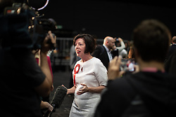 © Licensed to London News Pictures . 26/05/2019. Manchester, UK. THERESA GRIFFIN (Labour Party) . The count for seats in the constituency of North West England in the European Parliamentary election , at Manchester Central convention centre . Photo credit: Joel Goodman/LNP