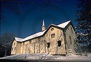 Harrisburg, PA, Fort Hunter Historic Bank Barn, Snow