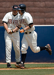 Oregon State Beavers IF Lonnie Lechelt (15) after hitting a home run.  The Oregon State Beavers defeated the Virginia Cavaliers 7-3 in Game 7 of the NCAA World Series Charlottesville Regional held at Davenport Field in Charlottesville, VA on June 5, 2007.  With the win, the Beavers advance to the NCAA Super Regional.