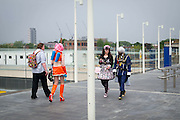 UNITED KINGDOM, London: 27 May 2016 Cosplay fans outside The ExCeL Centre. The comic convention will see an estimated 150,000 cosplay and comic fans flock to the exhibition. Rick Findler / Story Picture Agency