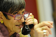 United States Congresswoman Rosa DeLauro, 69, a Democrat representing Connecticut's Third district. She is currently in her eleventh term, having been in Congress for twenty one years...Delauro on a conference call with 300 participants discussing food security programs for poorer US families in light of the current mood demanding government spend cuts in the US Congress.