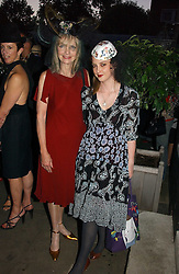 Left to right, JAN DE VILLENEUVE and her daughter DAISY DE VILLENEUVE at a party to celebrate Stephen Jones's 25 Years of Millinery held at Debenham House, 8 Addison Road, London W14 on 13th July 2006.<br /><br />NON EXCLUSIVE - WORLD RIGHTS