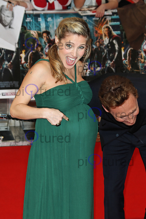 LONDON - APRIL 19: Elsa Pataky; Tom Hiddleston attend the European Film Premiere of 'Avengers Assemble' at the Westfield Shopping Centre, White City, London, UK. April 19, 2012. (Photo by Richard Goldschmidt)