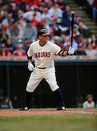 The Cleveland Indians defeated the Chicago White Sox Monday, March 31 at Progressive Field in Cleveland. The Indians defeated the White Sox 10-8.. Ryan Garko bats.
