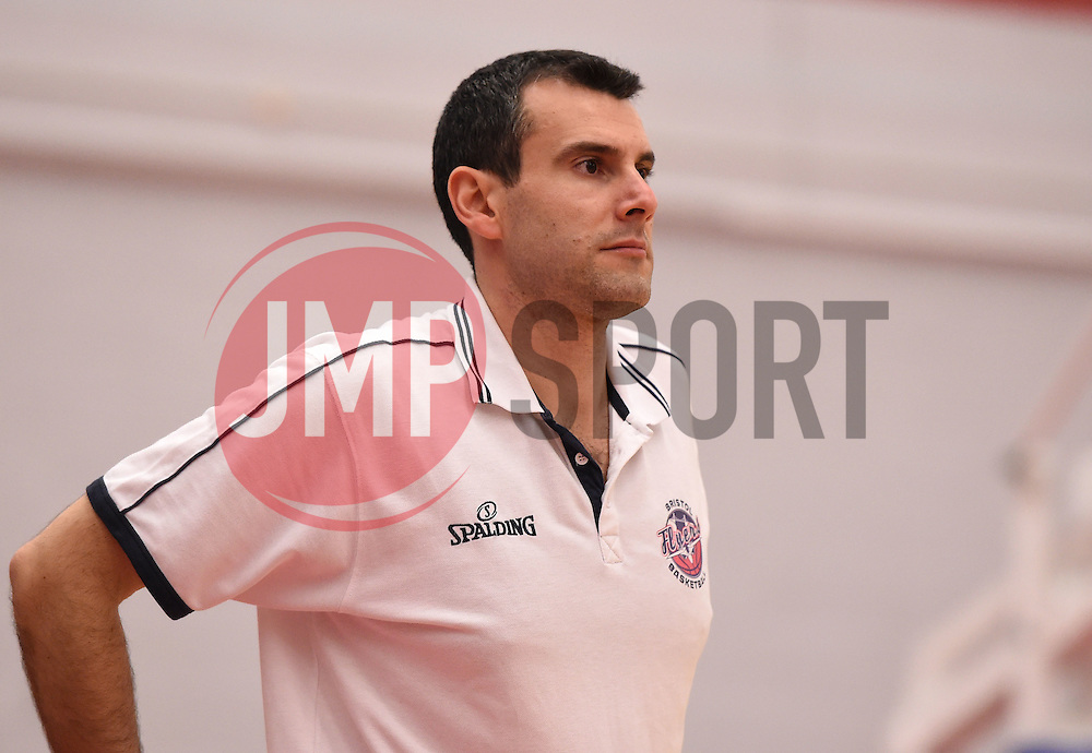 Andreas Kapoulas head coach of Bristol Flyers  - Photo mandatory by-line: Joe Meredith/JMP - Mobile: 07966 386802 - 10/10/2015 - BASKETBALL - SGS Wise Arena - Bristol, England - Bristol Flyers v Newcastle Eagles - British Basketball League