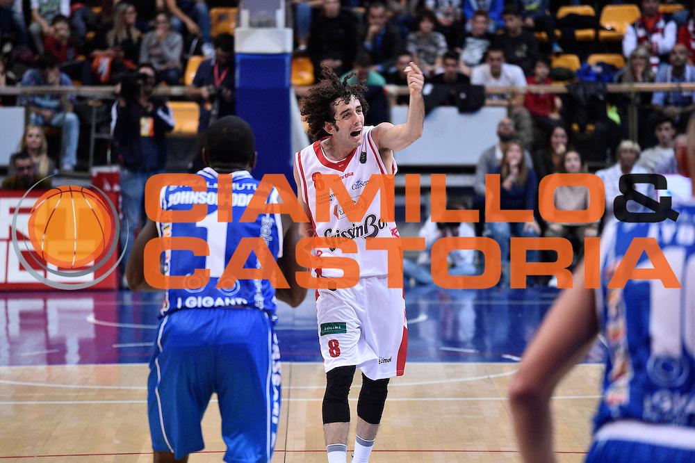 Della Valle Amedeo<br /> Grissin Bon Reggio Emilia - Banco di Sardegna Sassari<br /> Lega Basket Serie A 2016/2017<br /> Reggio Emilia 08/10/2016<br /> Foto Ciamillo-Castoria