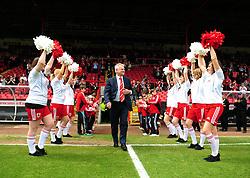 Bristol City Chairman Steve Lansdown makes an emotional appearance before the game in his last game as Chairman - Photo mandatory by-line: Joe Meredith/JMP - 07/05/2011 - SPORT - FOOTBALL - Championship - Bristol City v Hull City  - Ashton Gate Stadium, Bristol, England