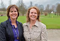 VLAARDINGEN -  - Persconferentie Ladies Open. Organisatoren Liz Wijma (r)  en Elsemieke Havenga. COPYRIGHT KOEN SUYK