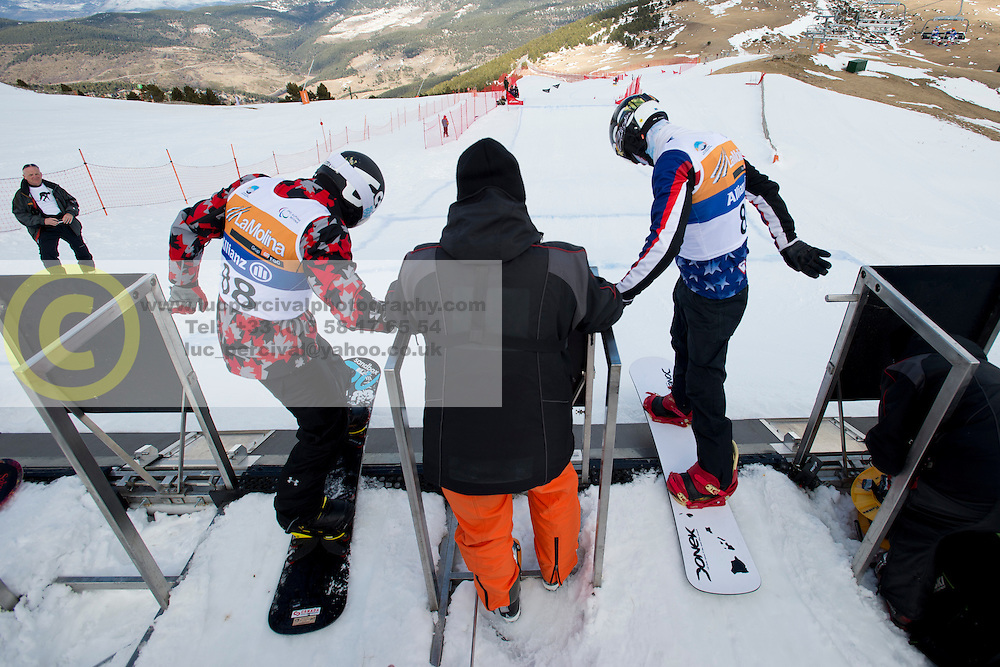 Official Training, 2015 IPC Snowboarding World Championships, La Molina, , Spain