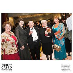 Judith Tizard;Helen Clark;Denis Adam;Verna Adam at the NZSO 60th Anniversary Concert at Michael Fowler Centre, Wellington, New Zealand.