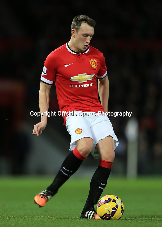 11th January 2015 - Barclays Premier League - Manchester United v Southampton - Phil Jones of Man Utd - Photo: Simon Stacpoole / Offside.