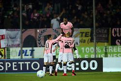 """Foto /Filippo Rubin<br /> 21/12/2017 Cesena (Italia)<br /> Sport Calcio<br /> Cesena - Palermo - Campionato di calcio Serie B ConTe.it 2017/2018 - Stadio """"Dino Manuzzi""""<br /> Nella foto: GOAL PALERMO ALEKSANDAR TRAJKOVSKI (PALERMO)<br /> <br /> Photo /Filippo Rubin<br /> Dicember 21, 2017 Cesena (Italy)<br /> Sport Soccer<br /> Cesena vs Palermo - Italian Football Championship League B 2017/2018 - """"Dino Manuzzi"""" Stadium <br /> In the pic: GOAL PALERMO ALEKSANDAR TRAJKOVSKI (PALERMO)"""