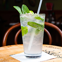 Mojito<br /> Garnished with fresh Mint leaves and a lime.<br /> Jimmy J's Cafe, 115 Chartres St. New Orleans, LA 70130