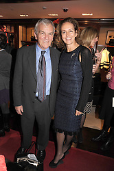 LORD EVANS and his wife CAROLINE MICHEL at a party to celebrate the publication of Catherine Blyth's book 'The Art of Conversation' held at Ralp Lauren, Bond Street, London on 4th November 2008.