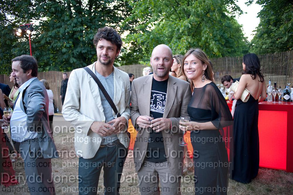 CONRAD SHAWCROSS; GAVIN TURK; JANE WILSON, The Summer Party. Serpentine Gallery. 8 July 2010. -DO NOT ARCHIVE-© Copyright Photograph by Dafydd Jones. 248 Clapham Rd. London SW9 0PZ. Tel 0207 820 0771. www.dafjones.com.