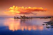 Tufa formations at sunset on the south shore of Mono Lake, Mono Basin National Scenic Area, California USA