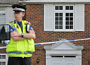 CLAYGATE SURREY. UK. A 56-year-old woman is being questioned on suspicion of murder after a man in his 60s was found dead in suspicious circumstances in Surrey.The body was discovered by officers who were called to an address in Ruxley Ridge, Claygate, near Esher. 16 August 2010. STEPHEN SIMPSON..