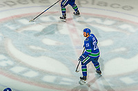 KELOWNA, BC - SEPTEMBER 29: Alexander Edler #23 of the Vancouver Canucks skates across centre ice of his junior hockey team the Kelowna Rockets during a preseason NHL game against the Arizona Coyotes at Prospera Place on September 29, 2018 in Kelowna, Canada. (Photo by Marissa Baecker/NHLI via Getty Images)  *** Local Caption *** Alexander Edler
