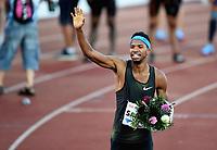 Friidrett , 7. juni 2018 Bislett Games ,,  vinneren Abderrahman Samba 400 m hekk
