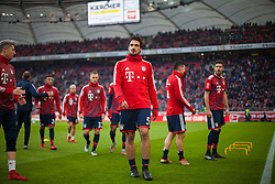 December 16, 2017 - Stuttgart, Germany - Bayerns Mats Hummels and his team mates during the warm-up before  the German first division Bundesliga football match between VfB Stuttgart and Bayern Munich on December 16, 2017 in Stuttgart, Germany. (Credit Image: © Bartek Langer/NurPhoto via ZUMA Press)