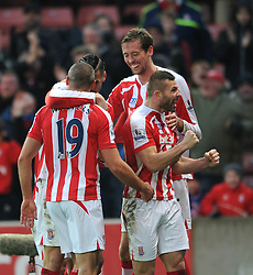 Stoke's Jonathan Walters celebrates his goal. - Photo mandatory by-line: Dougie Allward/JMP - Mobile: 07966 386802 - 06/12/2014 - SPORT - Football - Stoke - Britannia Stadium - Stoke City v Arsenal - Barclays Premie League