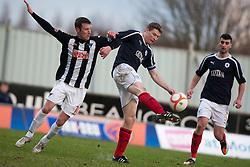 Dunfermline's Andy Kirk and Falkirk's Darren Dods..Falkirk 1 v 0 Dunfermline, 16/2/2013..©Michael Schofield.