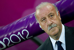 18.06.2012, Arena Gdansk, Danzig, POL, UEFA EURO 2012, Kroatien vs Spanien, Gruppe C, im Bild Vicente del Bosque, head coach of Spain // during the UEFA Euro 2012 Group C Match between Croatia and Spain at the Arena Gdansk, Gdansk, Poland on 2012/06/18. EXPA Pictures © 2012, PhotoCredit: EXPA/ Sportida/ Vid Ponikvar..***** ATTENTION - OUT OF SLO *****