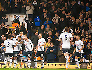Mousa Dembele of Tottenham Hotspur celebrates his opening goal during the Barclays Premier League match at White Hart Lane, London<br /> Picture by Jack Megaw/Focus Images Ltd +44 7481 764811<br /> 02/11/2015