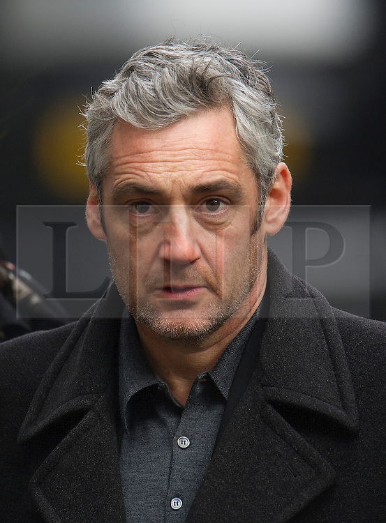 © London News Pictures. 13/02/2014. London, UK. Guests arriving at the church.  The funeral of actor Roger Lloyd-Pack at St Pauls Church also known as 'The Actor's Church'  in Covent Garden, London. Roger Lloyd-Pack was famous for playing roles such as Trigger in Only Fools and Horses and Owen Newitt in the The Vicar of Dibley. Photo credit : Ben Cawthra/LNP