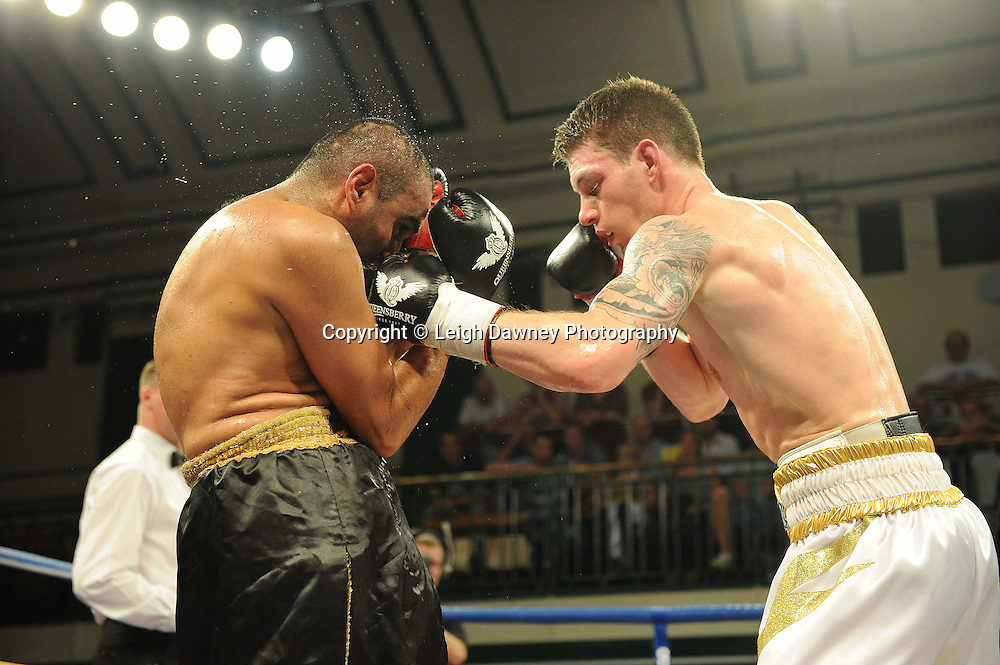 Liam Shinkwin defeats Sid Razak at York Hall, Bethnal Green, London on Friday 30th September 2011. Boxnation.tv's debut live TV Channel 456 on Sky. Photo credit: © Leigh Dawney. Queensberry Promotions.