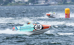 The P1 Scottish Grand Prix of the Sea is the second of four events across the UK for the P1 Powerboat Championship taking place at Greenock.<br /> <br /> <br /> Pictured: Milford Waterfront Pembrokeshire Panther team