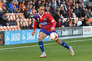 Jodi Jones of Dagenham and Redbridge crosses the ball during the Sky Bet League 2 match between Barnet and Dagenham and Redbridge at Hive Stadium, London, England on 26 September 2015. Photo by Ian Lyall.