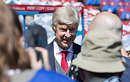 Arsene Wenger arrives at the ground before his final game in charge of Arsenal during the Premier League match at the John Smiths Stadium, Huddersfield<br /> Picture by James Wilson/Focus Images Ltd 07522 978714<br /> 13/05/2018