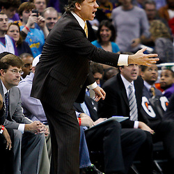 February 1, 2011; New Orleans, LA, USA; Washington Wizards head coach Flip Saunders against the New Orleans Hornets during the fourth quarter at the New Orleans Arena. The Hornets defeated the Wizards 97-89.  Mandatory Credit: Derick E. Hingle