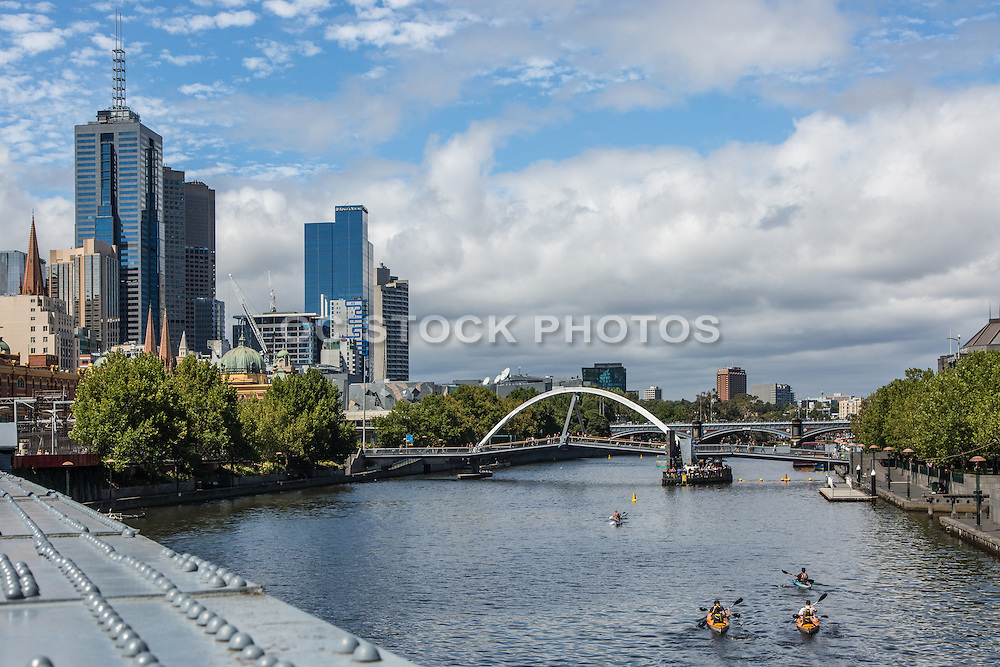People Kayaking on the Yarra River