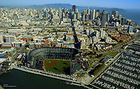 Aerial view of San Francisco Giants, AT&T Park