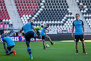 ALKMAAR - 24-08-2016, training AZ, AFAS Stadion, AZ speler Ron Vlaar, AZ speler Stijn Wuytens