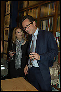 CAROLINE VON REITZENSTEIN; TOBY ROWLAND, Book party for 'The Liar's Ball' by Vicky Ward hosted by  Sir Evelyn  de Rothschild at Henry Sotheran's, 2 Sackville Street London. 25 November 2014