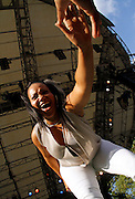 Cheryl Salt performs at the 4th Annual Central Park SummerStage R&B Fest at Rumsey Playfield on August 12, 2012.