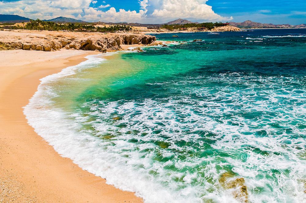 San Jose del Cabo, Los Cabos, Mexico --- Surf Rolling onto Chileno Beach