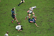 Waisea Nayacalevu Vuidravuwalu (Stade Francais) and Geoffrey Cros (Union Bordeaux-Begles) hurted during the French championship Top 14 Rugby Union match between Stade Francais Paris and Union Bordeaux-Begles on December 30, 2017 at Jean Bouin stadium in Paris, France - Photo Stephane Allaman / ProSportsImages / DPPI