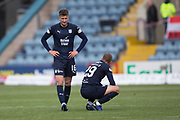 4th May 2019, Dens Park, Dundee, Scotland; Ladbrokes Premiership football, Dundee versus Hamilton Academical; Ethan Robson and James Horsfield of Dundee dejected after Dundee are relegated from the Ladbrokes SPFL Premiership