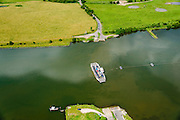 Nederland, Gelderland, Gemeente Utrechtse Heuvelrug, 26-06-2013; kabelpont over de Neder-rijn bij Amerongen.<br /> Cable ferry across the Lower Rhine.<br /> luchtfoto (toeslag op standaard tarieven);<br /> aerial photo (additional fee required);<br /> copyright foto/photo Siebe Swart.