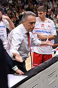 Piero Bucchi<br /> Banco di Sardegna Dinamo Sassari - Consultinvest Victoria Libertas Pesaro<br /> LegaBasket Serie A LBA Poste Mobile 2016/2017<br /> Sassari 30/10/2016<br /> Foto Ciamillo-Castoria