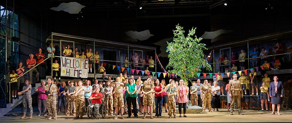 26th July 2017. Silver Birch performed by Garsington Opera, Wormsley. UK Directed by Karen Gillingham<br /> <br /> <br /> Jack -Sam Furness<br /> Anna -Victoria Simmonds<br /> Simon -Darren Jeffery<br /> Siegfried Sassoon -Bradley Travis<br /> Mrs Morrell -Sarah Redgwick<br /> Davey -James Way