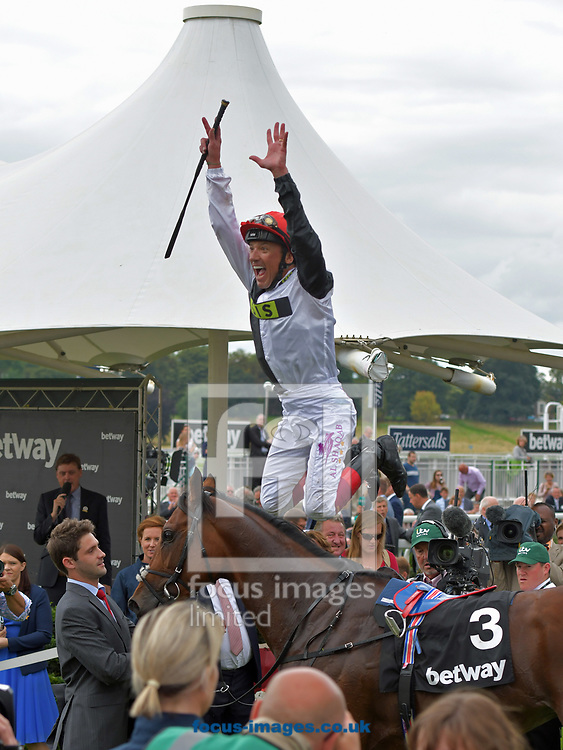 Cracksman ridden by Farnkie Dettori wins Betway Great Voltigeur Stakes  on day one of the Ebor Festival at York Racecourse, Yorkshire.<br /> Picture by Martin Lynch/Focus Images Ltd 07501333150<br /> 23/08/2017
